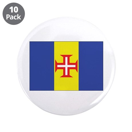 "Madeira Flag 3.5"" Button (10 pack)"