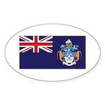 Tristan Flag Sticker (Oval 10 pk)