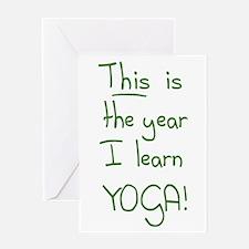 Year I Learn Yoga Greeting Card
