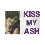 Kiss My Ash Rectangle Magnet