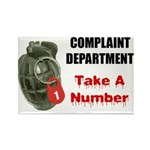 Complaint Department Rectangle Magnet