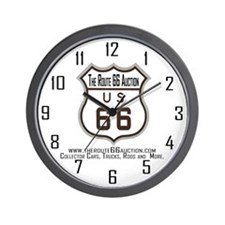 The Route 66 Auction Wall Clock