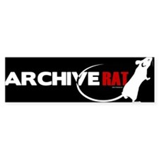 Archive Rat (V2) Bumper Bumper Sticker