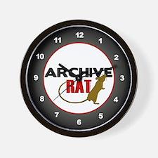 Archive Rat (V2) Wall Clock