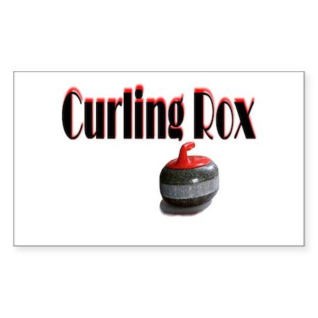 Curling Rox Sticker (Rectangle)