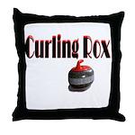 Curling Rox Throw Pillow