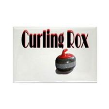 Curling Rox Rectangle Magnet