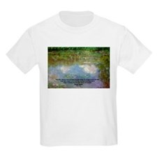 Monet Painting: Beauty Quote Kids T-Shirt