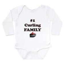 #1 Curling Family Long Sleeve Infant Bodysuit