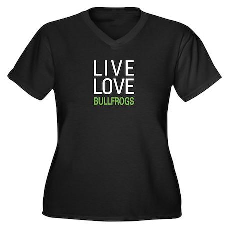 Live Love Bu Women's Plus Size V-Neck Dark T-Shirt