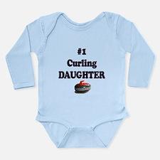 #1 Curling Daughter Long Sleeve Infant Bodysuit