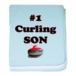#1 Curling Son baby blanket