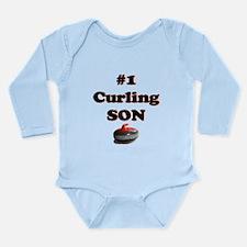 #1 Curling Son Long Sleeve Infant Bodysuit