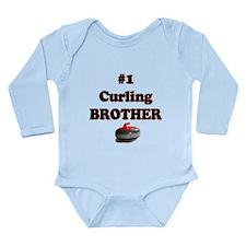 #1 Curling Brother Long Sleeve Infant Bodysuit