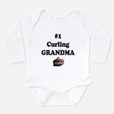 #1 Curling Grandma Long Sleeve Infant Bodysuit