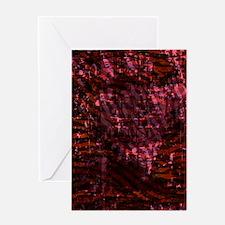 Batik Jewels - Red Greeting Card
