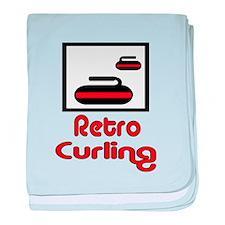 Retro Curling baby blanket