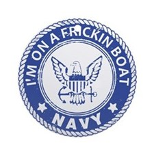 U.S. Navy Ornament (Round)