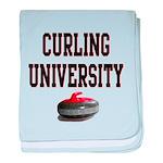 Curling University baby blanket