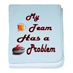 My Drinking Team Has a Curlin baby blanket