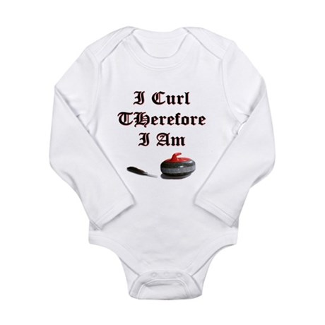 I Curl Therefore I Am Long Sleeve Infant Bodysuit