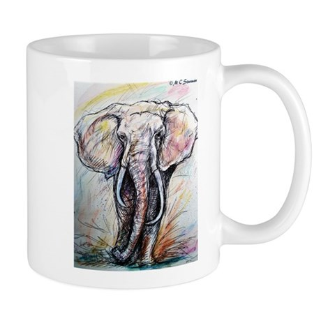Wildlife Elephant Beautiful Mug By Mcelephant5