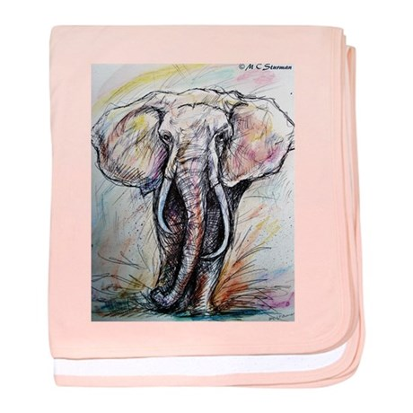 Wildlife, Elephant, Beautiful baby blanket