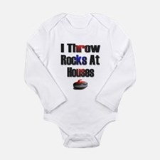 I Throw Rocks At Houses Long Sleeve Infant Bodysui