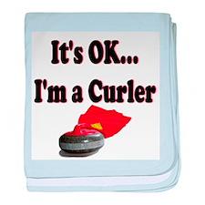 It's Ok...I'm a Curler baby blanket