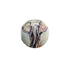 Wildlife, Elephant, Beautiful Mini Button (10 pack