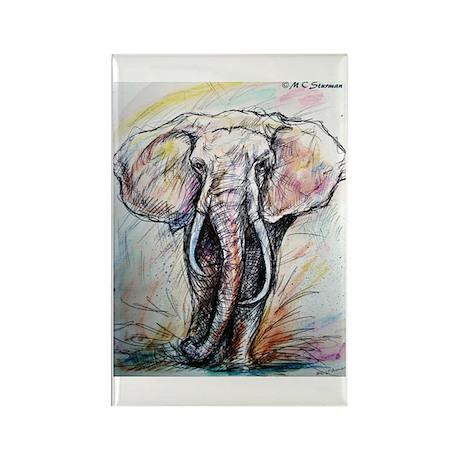 Wildlife, Elephant, Beautiful Rectangle Magnet