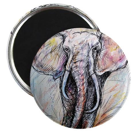 "Wildlife, Elephant, Beautiful 2.25"" Magnet (10 pac"