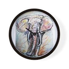 Wildlife, Elephant, Beautiful Wall Clock