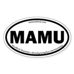 Marbled Murrelet Oval Sticker