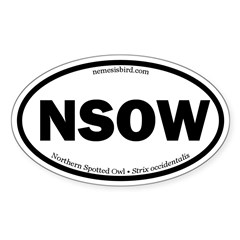 Northern Spotted Owl Oval Decal