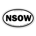Northern Spotted Owl Oval Sticker