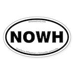 Northern Wheatear Oval Sticker