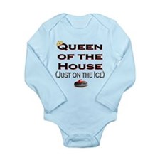 Queen of the House2 Long Sleeve Infant Bodysuit