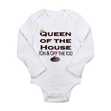 Queen of the House Long Sleeve Infant Bodysuit