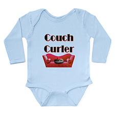 Couch Curler Long Sleeve Infant Bodysuit