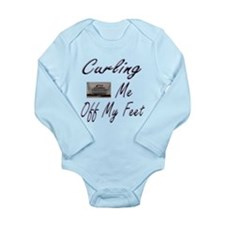 Curling Swept Me Off My Feet Long Sleeve Infant Bo