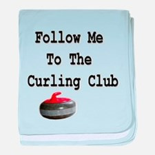 Follow Me to the Curling Club baby blanket
