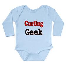Curling Geek Long Sleeve Infant Bodysuit