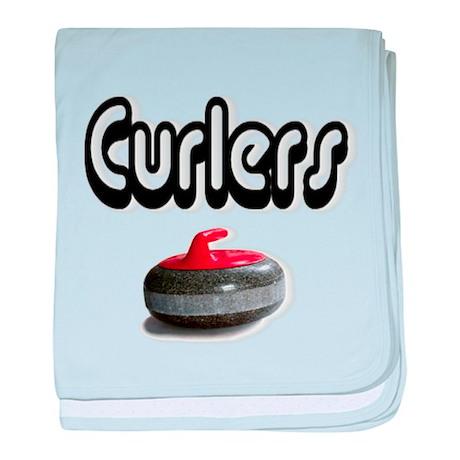 Curlers Rock baby blanket