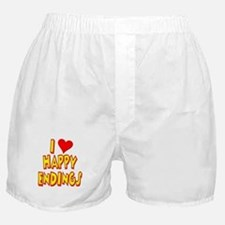 I Love Happy Endings Boxer Shorts