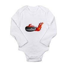 Flaming Rock Long Sleeve Infant Bodysuit
