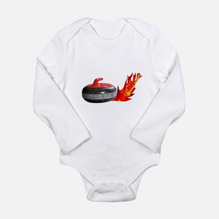 Flaming Rock Long Sleeve Infant Bodysuit