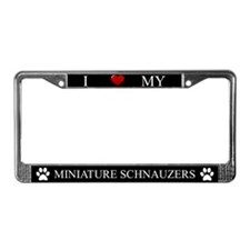 Black I Love My Miniature Schnauzers Frame