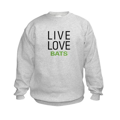 Live Love Bats Kids Sweatshirt