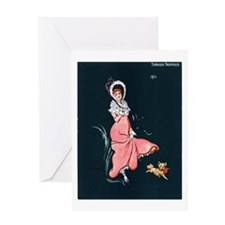 Girl With Pup Greeting Card